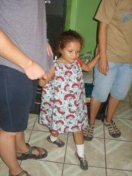 Sweet little girl in our pillowcase dress