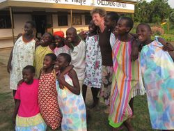 Ugandan girls blessed by Dress a Girl Connecticut's dresses