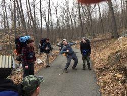 SPL teaching Hiking techniques