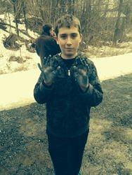 Chris breaks in his new gloves