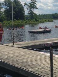 Swamped Canoe race