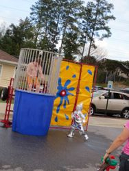 This little guy packed a powerful punch at the Dunking Booth