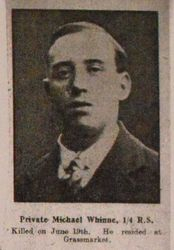 Pte Michael Whinne