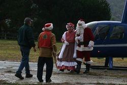 Randy & Dave Greeting Santa & Mrs.