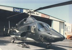 Full size Airwolf with RC Model @ Jet Copters in van Nuys Calif