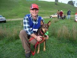 Kelpie Hillclimb Winner Aussie with Adam Ward