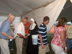 Sister collected over $500 for the Sisters of St. Joseph