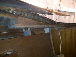 Starboard side cabin wall repair