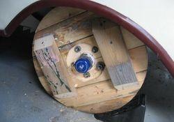 Finished storage wheel