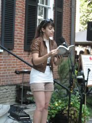 Writer Adrienne Kress reads from her soon to be release steampunk novel.