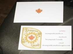 Steampunk Canada Calling Card