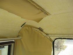 Peeling upholstery