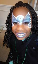 Frozen Snowdrift Face Painting by Atlanta Face Painter Frances Muslar