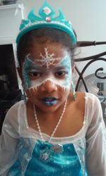 Frozen Snowflake Face Painting by Atlanta Face Painter Frances Muslar