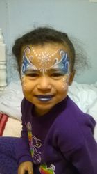 Frozen Snowflake Face Painting  Atlanta Face Painter Frances Muslar