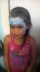 Elsa Hair Frozen Face Painting by Atlanta Face Painter Frances Muslar