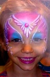 Pretty Power Mask Face Painting by Atlanta Face Painter Frances Muslar