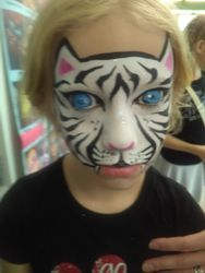 White Tiger face painting