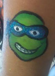 Teenage Mutant Ninja Turtle arm painting small cheekart