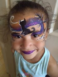 Halloween Cat Mask face paint