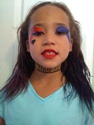 Harley Quinn face paint