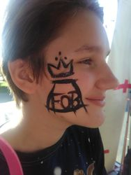 Fall Out Boy face paint