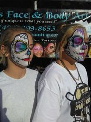 Half Day of the Dead Face Painting
