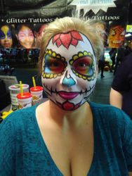 Day of the Dead face painting