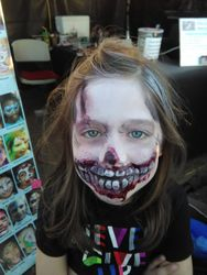 Zombie kid face painting