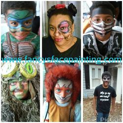 Ninja Turtle, Sugar Skull, Ninja Mask, Camouflage, Fox, Teen Wolf face painting