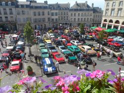 Some of the cars parked in Laon square