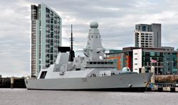 HMS DARING from the river