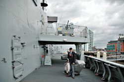 Port side boat deck