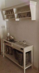Liatorp console table and wall shelf