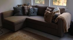 IKEA sofa bed with chaise longue