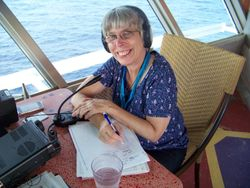 Lori  (KM5MG) at the mike