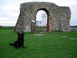 Posing near the lighthouse!