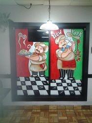 Italian chefs Window Mural