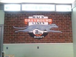 Greyhound Brick Mural