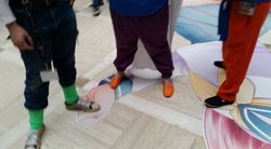 Android 17, Gohan, and Krilliin's Feet
