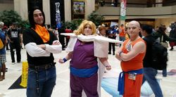 Android 17, Gohan, and Krillin