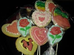 Various Heart Cookies