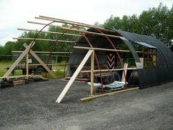 Nissen Hut Under Construction