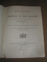 Statutes of the Dominion of New Zealand