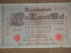 German Currency circa 1910