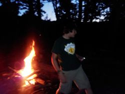 Evening Fire is Lit