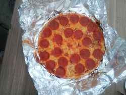 Pepperoni Pizza from a Dutch Oven