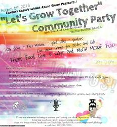 """WHHA presents the First Annual """"Lets Grow Together """" Community Party"""