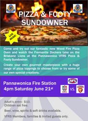 Pizza & Footy Sundowner