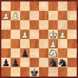 Maaike speelt 34. Kc4